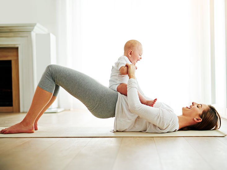 how to keep fit after child birth